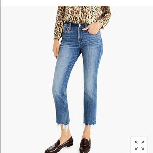 J Crew boyfriend jeans with chewed hems